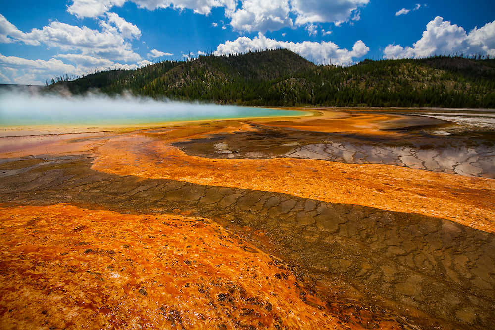 Grand Prismatic Spring in Yellowstone National Park is a site everyone should see.  No where else can you see a display of color like this.