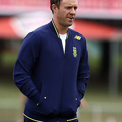 DURBAN, SOUTH AFRICA, 15 August, 2016 - AB De Villiers during the South African national cricket team training session and press conference at the Sahara Stadium Kingsmead Durban, South Africa. (Photo by Steve Haag)<br /> <br /> images for social media must have consent from Steve Haag