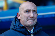 Ian Holloway Manager of Millwall looks on during the Sky Bet Championship match at The Den, London<br /> Picture by David Horn/Focus Images Ltd +44 7545 970036<br /> 15/02/2014