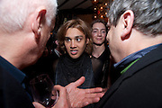 MICHAEL CRAIG-MARTIN; PABLO GANGULI; ,; NORMAN ROSENTHALL, Party to celebrate the composer Michael Nyman's exhibition and the Russian Anglo Arts festival (Anglomockba). Sketch. London. 27 April 2009