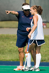 Virginia Cavaliers field hockey head coach Michele Madison..The Virginia Cavaliers field hockey team fell to the Boston University Terriers 3-0 at the University Hall Turf Field in Charlottesville, VA on September 23, 2007