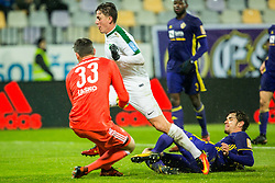 Andres Vombergar of NK Olimpija Ljubljana during football match between NK Maribor and NK Olimpija Ljubljana in 2nd leg match in Quaterfinal of Slovenian cup 2017/2018, on November 29, 2017 in Ljudski vrt, Maribor, Slovenia. Photo by Ziga Zupan / Sportida
