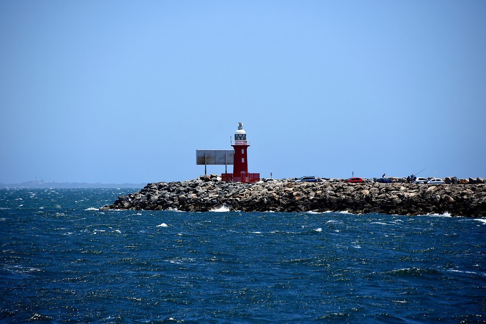 Port Red light house at the entrance to Freemantle Harbour