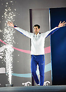 Robbie Grabarz (GBR) enters the Arena before the Men's High Jump Final during the IAAF World Indoor Championships at Arena Birmingham in Birmingham, United Kingdom on Thursday, Mar 1, 2018. (Steve Flynn/Image of Sport)