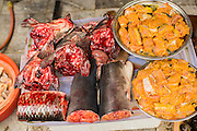 01 APRIL 2012 - HANOI, VIETNAM:  Fresh fish for sale on a street in Hanoi, the capital of Vietnam.    PHOTO BY JACK KURTZ