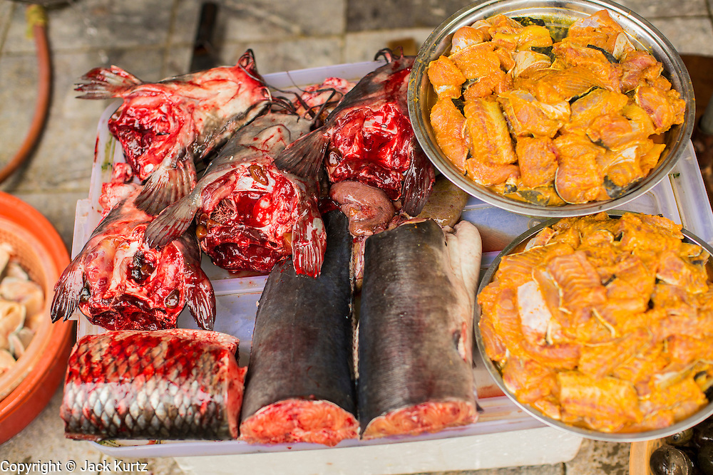 01 APRIL 2012 - HANOI, VIETNAM:  Fresh fish for sale on a street in Hanoi, the capital of Vietnam.    PHOTO BY JACK KURTZ