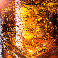 Photograph of frosted glass of liquor for an advertisement by Timothy Hogan in Los Angeles