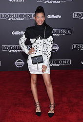 Celebrities walk the red carpet for the 'Rogue One: A Star Wars Story' world premiere held at the Pantages Theatre in Hollywood. 10 Dec 2016 Pictured: Storm Reid. Photo credit: American Foto Features / MEGA TheMegaAgency.com +1 888 505 6342