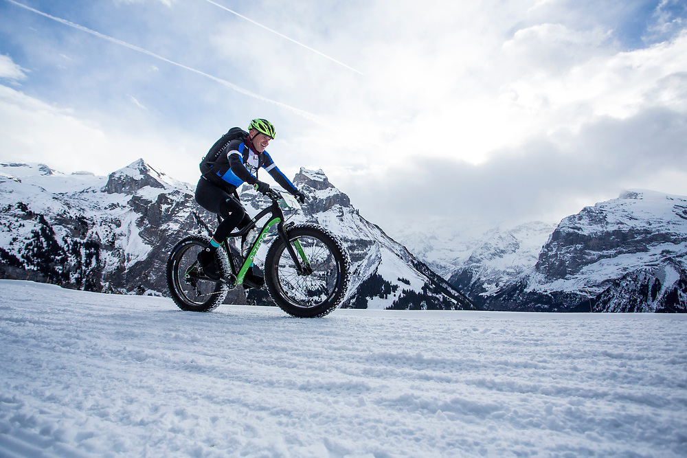 Leander Borg of Namibia during stage 2 and 3 of the first Snow Epic, the ascent and decent of Brunni H&uuml;tte near Engelberg, in the heart of the Swiss Alps, Switzerland on the 16th January 2015<br /> <br /> Photo by:  Nick Muzik / Snow Epic / SPORTZPICS