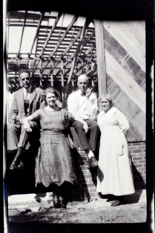 adult and senior couple USA 1920s