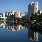 Shing Mun river in Sha Tin, a town in the New Territories.