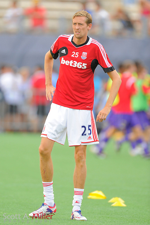 Stoke City forward Peter Crouch (25) during the Potters game against the Orlando City Lions at the Florida Citrus Bowl on July 28, 2012 in Orlando, Florida. Stoke won 1-0...© 2012 Scott A. Miller.
