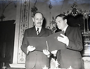 French Irish Agreement signed by His Excellence Jacques de Blesson and Liam Cosgrave Department for External Affairs