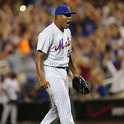 Pitcher Jeurys Familia, New York Mets, celebrates the save during the New York Mets Vs Washington Nationals. MLB regular season baseball game at Citi Field, Queens, New York. USA. 1st August 2015. (Tim Clayton for New York Daily News)