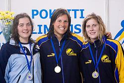 Gabrijela Golob Dobrina, Anja Carman and Ursa Mohoric at International Swimming competition of Kranj, on June 14, 2009, in Olympic pool, Kranj, Slovenia. (Photo by Vid Ponikvar / Sportida)