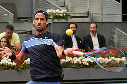 May 7, 2018 - Madrid, Spain - Feliciano Lopez of Spain  during his match against Pablo Andujar of Spain during day three of the Mutua Madrid Open tennis tournament at the Caja Magica on May 7, 2018 in Madrid, Spain  (Credit Image: © Oscar Gonzalez/NurPhoto via ZUMA Press)