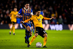 Joao Moutinho of Wolverhampton Wanderers takes on Oliver Norburn of Shrewsbury Town - Mandatory by-line: Robbie Stephenson/JMP - 05/02/2019 - FOOTBALL - Molineux - Wolverhampton, England - Wolverhampton Wanderers v Shrewsbury Town - Emirates FA Cup fourth round replay