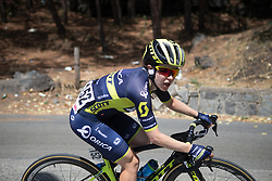 Amanda Spratt (AUS) of Orica Scott Cycling Team digs deep on the final climb of Stage 10 of the Giro Rosa - a 124 km road race, starting and finishing in Torre Del Greco on July 9, 2017, in Naples, Italy. (Photo by Balint Hamvas/Velofocus.com)