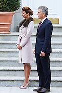Mauricio Macri, President of Argentina, Juliana Awada attended an official lunch at Palacio de la Zarzuela on February 22, 2017 in Madrid, Spain.