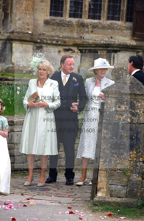 MR & MRS ANDREW PARKER BOWLES and the DUCHESS OF CORNWALL  at the wedding of Laura Parker Bowles to Harry Lopes held at Lacock, Wiltshire on 6th May 2006.<br /><br />NON EXCLUSIVE - WORLD RIGHTS