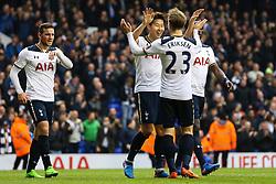 Son Heung-Min of Tottenham Hotspur celebrate scoring his hat-trick - Mandatory by-line: Jason Brown/JMP - 12/03/2017 - FOOTBALL - White Hart Lane - London, England - Tottenham Hotspur v Millwall - Emirates FA Cup Quarter Final