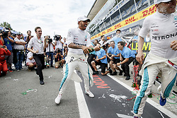 September 2, 2018 - Monza, Italy - Motorsports: FIA Formula One World Championship 2018, Grand Prix of Italy, .#44 Lewis Hamilton (GBR, Mercedes AMG Petronas Motorsport), #77 Valtteri Bottas (FIN, Mercedes AMG Petronas Motorsport) (Credit Image: © Hoch Zwei via ZUMA Wire)