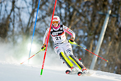 """Christina Geiger (GER) during FIS Alpine Ski World Cup 2016/17 Ladies Slalom race named """"Snow Queen Trophy 2017"""", on January 3, 2017 in Course Crveni Spust at Sljeme hill, Zagreb, Croatia. Photo by Žiga Zupan / Sportida"""