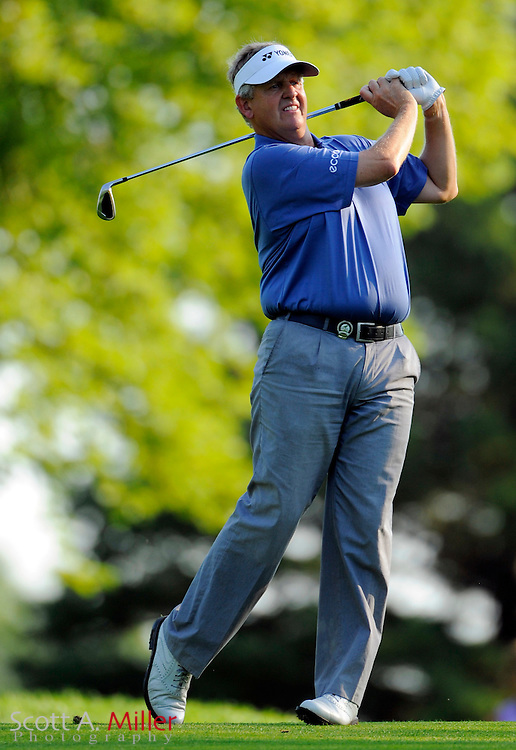 Aug 14, 2009; Chaska, MN, USA; Colin Montgomerie during the second round of the 2009 PGA Championship at Hazeltine National Golf Club.  ©2009 Scott A. Miller