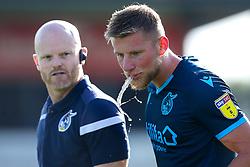 Alfie Kilgour of Bristol Rovers spits water - Mandatory by-line: Robbie Stephenson/JMP - 14/09/2019 - FOOTBALL - Sincil Bank Stadium - Lincoln, England - Lincoln City v Bristol Rovers - Sky Bet League One