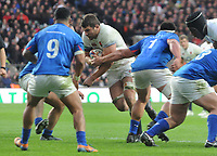 Rugby Union - 2017 Old Mutual Wealth Series (Autumn Internationals) - England vs. Samoa<br /> <br /> Charlie Ewels of England powers over to score try no 3, at Twickenham.<br /> <br /> COLORSPORT/ANDREW COWIE