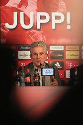 04.06.2013, Alianz Arena, Muenchen, GER, 1. FBL, FC Bayern Muenchen, Pressekonferenz, im Bild, Jupp Heynckes verabschiedet sich bei FC Bayern // during a presss conference of FC Bayern Munich at the Alianz Arena, Munich, Germany on 2013/06/04. EXPA Pictures &copy; 2013, PhotoCredit: EXPA/ Eibner/ Ruiz<br /> <br /> ***** ATTENTION - OUT OF GER *****
