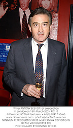 Writer ANTONY BEEVOR  at a reception in London on 18th March 2003.	PIC 12