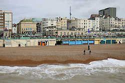 © Licensed to London News Pictures. 22/02/2015. Brighton, UK. A cold and windy day in Brighton and the South East with few people visiting Brighton beach, today Sunday February 22nd. Photo credit : Hugo Michiels/LNP