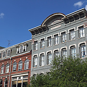 Examples of 19th Century architecture in downtown Bangor, Maine, USA. Bangor is the 3rd largest city in the state and the retail, cultural and service center for central, eastern and northern Maine, as well as Atlantic Canada.