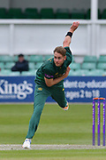 Stuart Broad following through during the Royal London 1 Day Cup match between Worcestershire County Cricket Club and Nottinghamshire County Cricket Club at New Road, Worcester, United Kingdom on 27 April 2017. Photo by Simon Trafford.