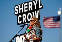 Jul 6, 2013; Daytona Beach, FL, USA; Recording artist Sheryl Crow performs before the NASCAR Sprint Cup Series Coke Zero 400 at Daytona International Speedway.