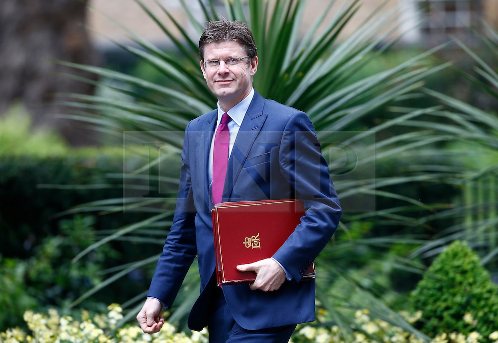 © Licensed to London News Pictures. 10/05/2016. London, UK. Secretary of State for Communities and Local Government GREG CLARK arrives at Number 10 Downing Street in Westminster, London for cabinet meeting. Photo credit: Tolga Akmen/LNP