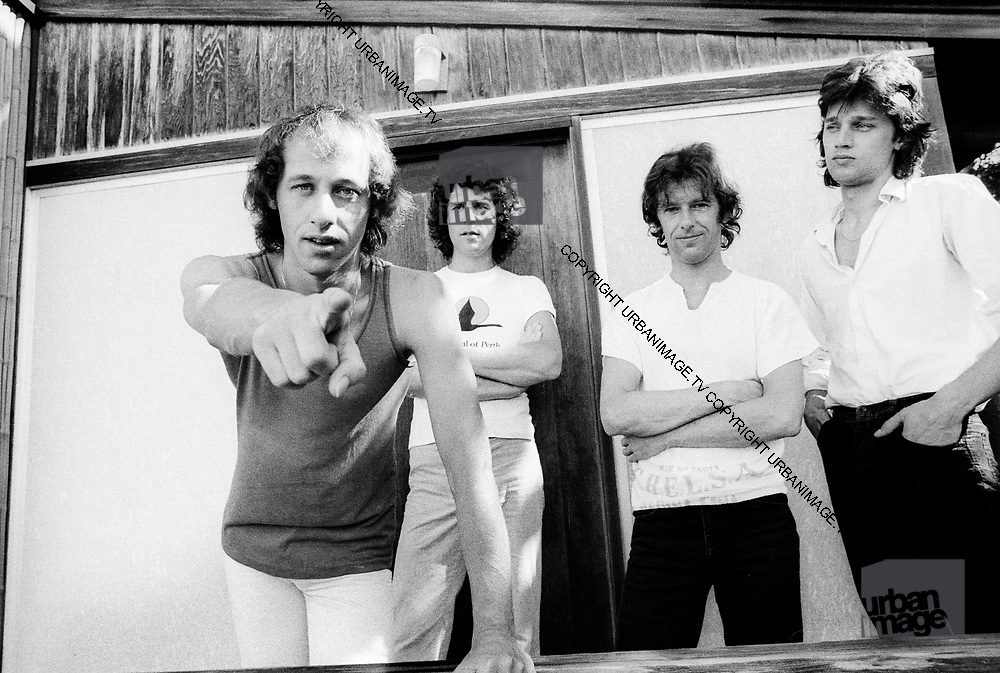 Mark Knopfler and Dire Straits in Nassau Bahamas recording Communiqué 1978