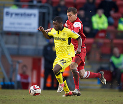 LONDON, ENGLAND - Saturday, February 9, 2013: Tranmere Rovers' Abdulai Bell-Baggie in action against Leyton Orient during the Football League One match at Brisbane Road. (Pic by David Rawcliffe/Propaganda)