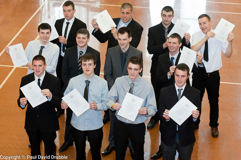 Twelve young men from the Barnsley area took one of the first steps to becoming professional soldiers today (23 March) In a special ceremony watched by family and friends they  took the Oath of Allegiance at the Barnsley TA Centre before moving on to undergo basic training..Among the twelve were Daniel Goodwin and Michael Davies whose first taste of army life was through an Army Prep Course also taking the Oath were Keifer Thomas,  Aaron Sykes, Christopher Bennett, Neil Brown, Daniel Armitage, Dean Bentley, Ashley Lockwood, Hayden Wass, Simon Brigham and Ryan Chritan.23 March 2011.Images © Paul David Drabble