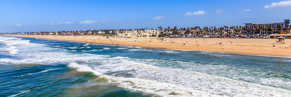 Huntington Beach Wall Decor : Huntington beach california panorama photo buy canvas