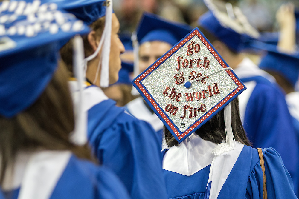 The 2015 undergraduate commencement took place at the Spokane arena on Sunday, May 10th. Graduating students gathered with their families, friends and Gonzaga University members for the ceremony.