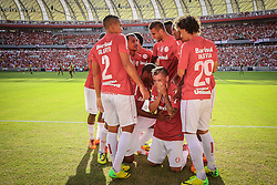 Andres D'Alessandro chora ao comemorar seu gol, o primeiro gol, do novo estádio Beira Rio inaugurado em 05 de abril de 2014. O estádio Beira Rio receberá os jogos da Copa do Mundo de Futebol 2014. FOTO: Lucas Uebel/ Agência Preview