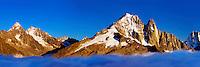 Mountain impression Aiguille Vert, Les Drus - Europe, France, Haute Savoie, Aiguilles Rouges, Chamonix, Lac Blanc - Sunset - September 2008