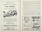 All Ireland Senior Hurling Championship Final,.Brochures,.05.09.1948, 09.05.1948, 5th September 1948, .Waterford 6-7, Dublin 4-2, .Minor Kilkenny v Waterford, .Senior Dublin v Waterford, .Croke Park, ..Advertisements, Certistyle Irish Gown, Dublin Evening mail, Lemon's Pure Sweets,