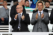 Derby County owner Mel Morris during the EFL Sky Bet Championship match between Derby County and Leeds United at the iPro Stadium, Derby, England on 15 October 2016. Photo by Aaron  Lupton.