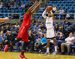 Dec 20, 2016; Morgantown, WV, USA; West Virginia Mountaineers guard James Bolden (3) shoots a jumper during the second half against the Radford Highlanders at WVU Coliseum. Mandatory Credit: Ben Queen-USA TODAY Sports