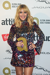 Kylie Minogue Pictured backstage at the Attitude Awards, where she won won the Legend award, at the Roundhouse in North London. Picture date: Thursday October 12th, 2017. Photo credit should read: Matt Crossick/ EMPICS Entertainment.