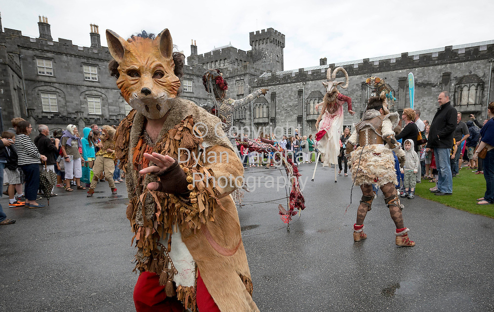 14/8/2013<br /> <br /> The Macnas Irish Premiere of Chaosmos pictured on the streets of Kilkenny at the Kilkenny Arts Festival<br /> Picture Dylan Vaughan.