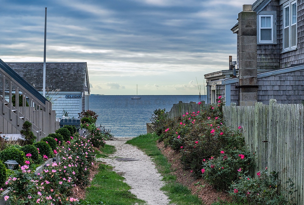 Path to the beach, Provincetown, Cape Cod, Massachusetts, USA.